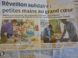 Les jocistes de Blois on mis la main à la pâte pour la préparation du Réveillon solidaire de Noël, organisé par la ville