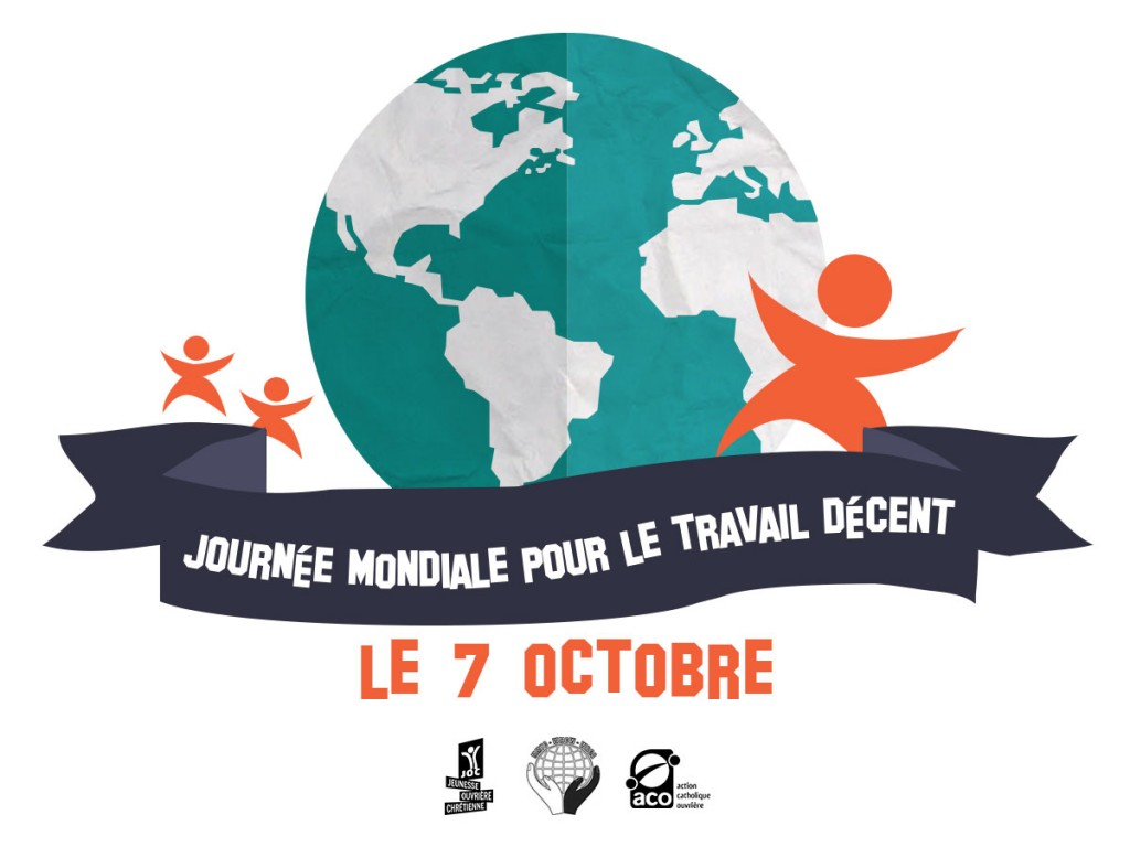 Le 7 octobre, la JOC et l'ACO se mobilisent pour le travail décent