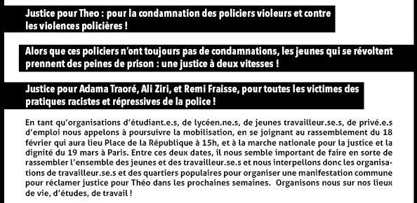 appel stop aux violences policières