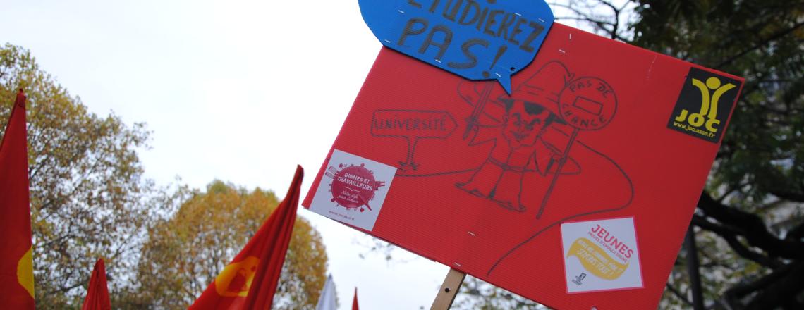 Le 3 avril, continuons la mobilisation contre la sélection,pour une université ouverte !