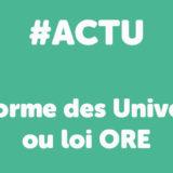 La réforme des universités, ou loi « ORE » : Orientation et Réussite des Etudiants