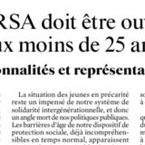 Le RSA doit être ouvert aux moins de 25 ans -Tribune