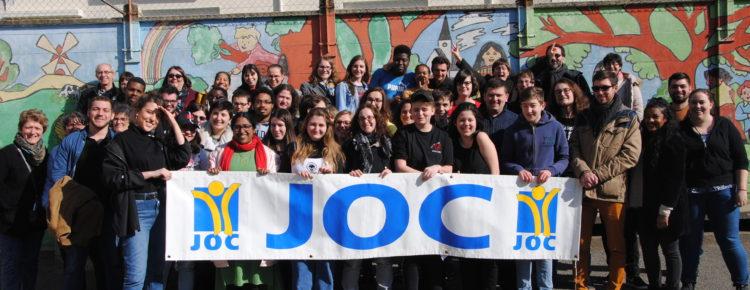 Bannière JOC - Jeunesse Ouvrière Chrétienne