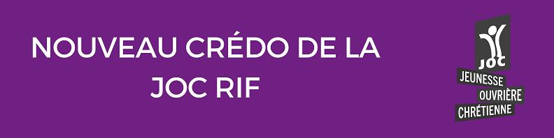 Le crédo de la JOC RIF