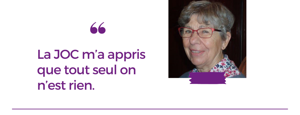 Entretien avec Chantal Touron, ancienne jociste de la région bordelaise et membre de l'ACO