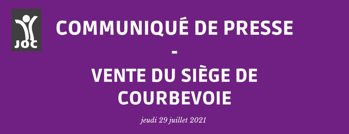 Communiqué de Presse – Vente du siège à Courbevoie